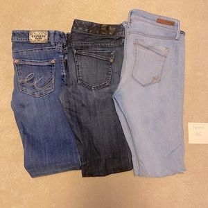 LOT of 3 Express Jeans Flair 6 Long